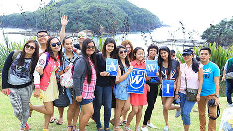 AWI Students Outside